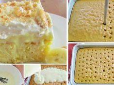 Hľadali ste banán - Page 5 of 64 - To je nápad! No Salt Recipes, Desert Recipes, Vanilla Cake, Ham, Good Food, Food And Drink, Dairy, Ice Cream, Pudding