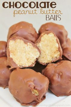 High Heels and Grills: Chocolate Peanut Butter Balls. These are my new favorite dessert. They're so easy to make too!