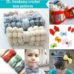 25+ free & easy crochet bow patterns and tutorial