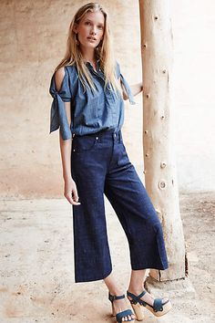 7 For All Mankind High-Rise Culottes