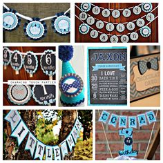 Little Man BirthdayBowtie PartyMustache Bash Party Decorations