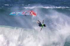 How can a windsurfer survive beatings and wipeouts? How To Defend Yourself, Offshore Wind, Standup Paddle Board, Sup Surf, Windy Day, Big Challenge, Water Photography, Big Waves, Surfboard