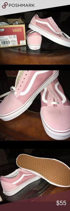 Old Skool Vans #Vans #UrbanOutfitters  Old Skool Vans Pink/Rose color Size 8 Men, 9.5 Women. Brand new never worn. Vans Shoes Sneakers