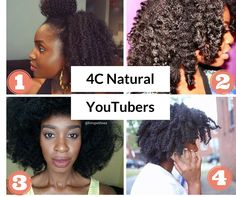4 Kinky Coily 4C Natural Hair YouTubers You Should Know - https://blackhairinformation.com/general-articles/hairstyles-general-articles/4-kinky-coily-4c-natural-hair-youtubers-know/