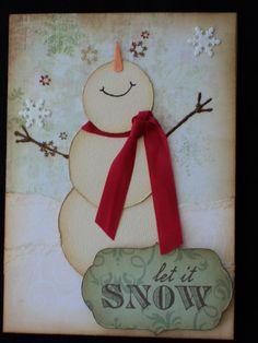 Let It Snow Card, no tutorial just photo  | Scrapbook.com