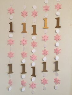 Need some Winter Themed 1st Birthday decorations that really stand out? This garland is the ticket!!! Works for a boy or a girl since you can