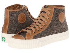 PF Flyers Center Hi-Tweed Butterscotch Leather/Tweed - Zappos.com Free Shipping BOTH Ways