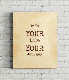 Papyrus Printable Quote Your Life Your Journey by VeganArtByTafida
