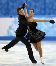 Swan Lake as interpreted by the Russian team. Did you catch their skate? #Sochi #Olympics Ice Dancing #Costumes