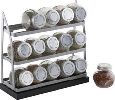 15-Jar Tiered Spice Rack in Food Containers, Storage | Crate and Barrel