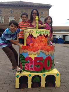 #STL250 On a mission to find all 250 cakes in St. Louis and the surrounding area. This cake is in front of the Soulard Farmer's Market.