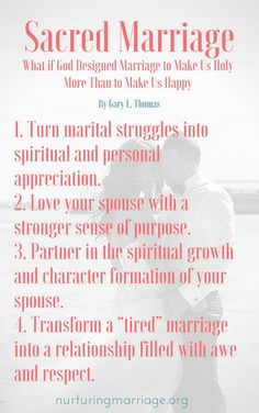 Sacred Marriage Overview - What if God Designed Marriage to Make Us Holy More Than to Make Us Happy