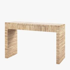 Our Madison Natural Papyrus Console Table in Papyrus recasts modernism's simplest shapes and most refined proportions. Adds an organic vibe to any space.