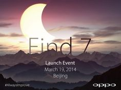 OPPO Find 7 to launch in Beijing on March 19