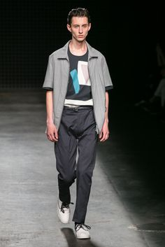 A look from the E. Tautz Spring 2016 Menswear collection.