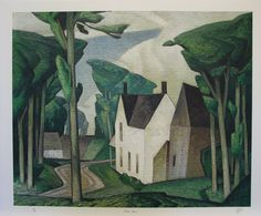 A J Casson Group of Seven Signed Art Print Embossed Village House   eBay