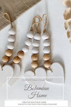 Wood Bead Garland, Beaded Garland, Valentine Crafts, Holiday Crafts, Valentines, Bead Crafts, Paper Doily Crafts, Diy Christmas Ornaments, Xmas