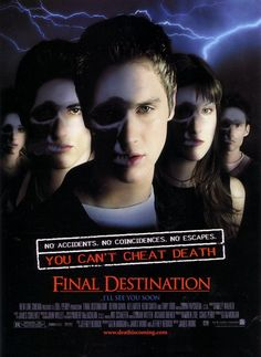 After a teenager has a terrifying vision of him and his friends dying in a plane crash, he prevents the accident only to have Death hunt them down, one by one.