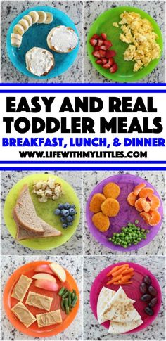 Easy {and Real} Toddler Meal Ideas - Life With My Littles - Easy {and real} toddler meal ideas for everyday, busy moms. The best suggestions for breakfast, lunch, dinner, and snacks! Easy {and Real} Toddler Meal Ideas – Life With My Littles Lunch Snacks, Clean Eating Snacks, Kid Snacks, Daycare Meals, Baby Food Recipes, Healthy Recipes, Drink Recipes, Healthy Foods, Healthy Toddler Meals