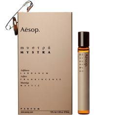 Mystra by Aesop --- Ein gewagter harziger Duft für Männer und Frauen. Mit Kopfnoten die man üblicherweise in Kirchen der Byzanz findet –  Labdanum, Weihrauch und Mastix– ist Mystra ein aufregender, reicher und berauschender Duft.
