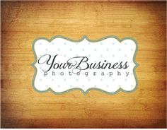 Photography Logo & Watermark - Pre-made for Photographer - Scroll Frame 2. $40.00, via Etsy.