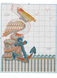 <3 Pelican cross stitch
