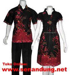 baju batik hitam