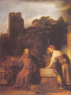Christ and the Samaritan Woman at the Well - Rembrandt