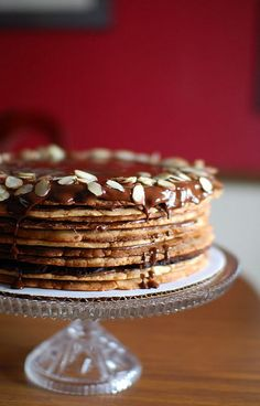 12 layer nutella almond cake