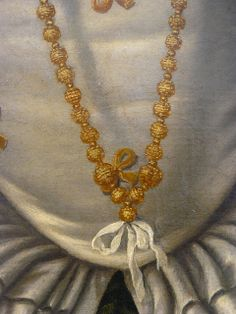 detail portrait of a lady, Moretto da Brescia, NGA Washinton DC - idea . seed beads made into larger round bead with glass or dyed pearl spacers Close Up Art, Fashion Art, Fashion Jewelry, National Gallery Of Art, Art Techniques, Art History, Antique Jewelry, Art Pieces, Fine Jewelry