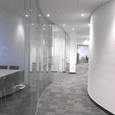 Denovo Design: #Commercial Interior Glazed partitioning and curved walls create a feeling of spaciousness. #InteriorDesign