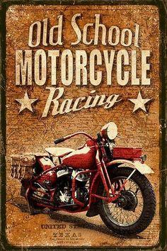 Retro cars poster metal signs 47 Ideas for 2019 Vintage Labels, Vintage Ads, Vintage Prints, Old School Motorcycles, Vintage Motorcycles, Motorcycle Posters, Motorcycle Art, Images Vintage, Vintage Pictures