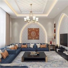 Definitive Proof That Gray Living Rooms Make a Striking Statement – Home Design Ceiling Design Living Room, Home Room Design, Home Ceiling, Home Design Decor, Home Interior Design, Living Room Designs, Living Room Modern, Home Living Room, Living Room Decor