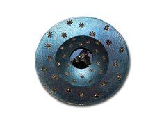 """Spilla """"Giotto2"""": mia creazione (titanio, oro, meteorite)"""