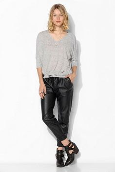 Sparkle & Fade Tie-Front Dolman Tee #urbanoutfitters