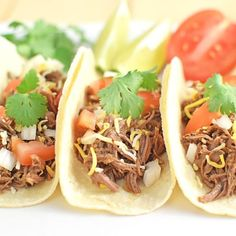 These crock pot shredded beef tacos are so delicious and flavorful. And it only took me about 5 minutes in the morning to put in the…
