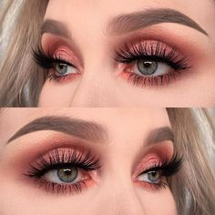 "908 Likes, 16 Comments - @helenesjostedt on Instagram: ""I used @toofaced sweet Peach palette ( shadows: candied peach, Bellini and a tiny bit of…"""