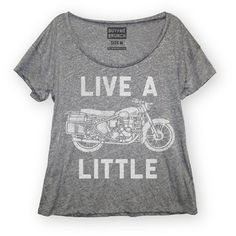 Live a Little Tee Women's Gray now featured on Fab.