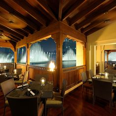 The Palace Downtown Dubai-Thiptara  This elegant and romantic restaurant serves Thai cuisine with an emphasis on Bangkok-style seafood. Meaning 'Magic at the Water', the restaurant offers al fresco dining overlooking The Dubai Fountain