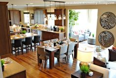 Industrial Chic Model Home with Open Floor Plan