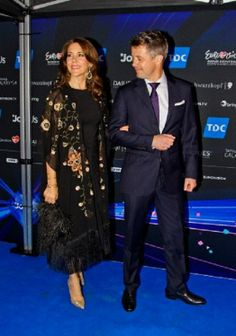 Crown Prince Frederik and Crown Princess Mary of Denmark, arrives the 2014 Eurovision Song Contest Final on May 10 in Copenhagen.