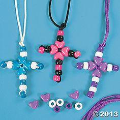 Beaded Cross Necklace Craft Kit