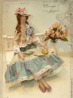 Купить Кукла в стиле Бохо: Леди Виктория - тильда, кукла Тильда, тильды, куклы тильды
