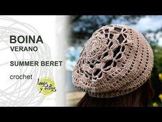 Adult size 3,5mm yarn 3,25mm crochetVideo Tutorial Follow the diagramsCenterLateral Crochet Hat Sizing, Crochet Adult Hat, Crochet Beret, Crochet Cap, Crochet Baby Hats, Crochet Scarves, Crochet Clothes, Free Crochet, Crochet Patterns