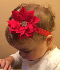 Hey, I found this really awesome Etsy listing at https://www.etsy.com/listing/210904461/20off-pointsetta-christmas-headband-red