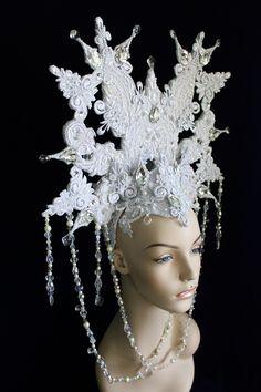 Snow Queen headdress by Mascherina