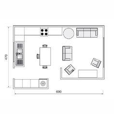 Plan de cuisine de 32m2