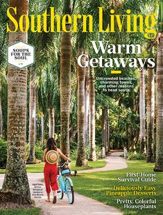 Southern Living January February 2020 Warm Getaways (Magazine: Home & Garden) Collard Greens, Thing 1, Southern Recipes, Have Time, Home And Garden, Stuffed Peppers, Cooking, Hair Styles, German Chocolate