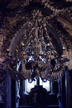 Sedlec Ossuary in Kutná Hora, Czech Republic #bones #skulls #macabre More at: http://www.bleaq.com/2012/personal-post-the-sedlec-ossuary-in-the-czech-republic