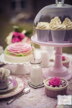 Romantic Tea Party via Kara's Party Ideas | The place for all things Party! KarasPartyIdeas.com (6)
